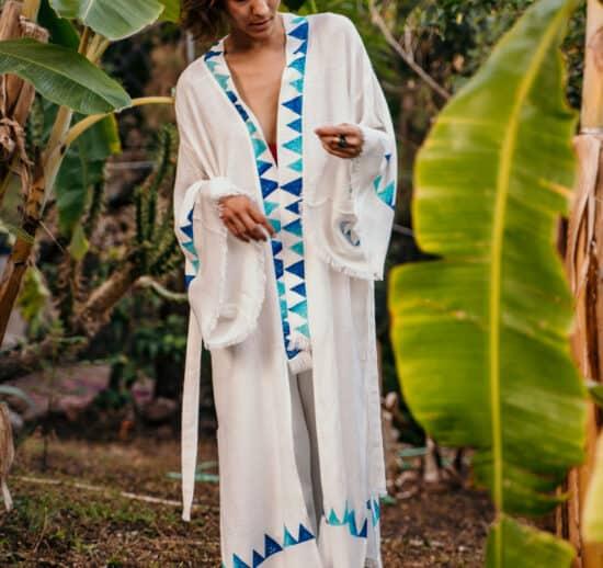 Fulmarix Blue Block Kimono
