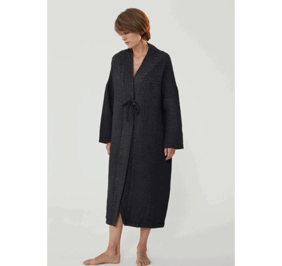 Fulmarix Black Long Jacket von Ikikiz