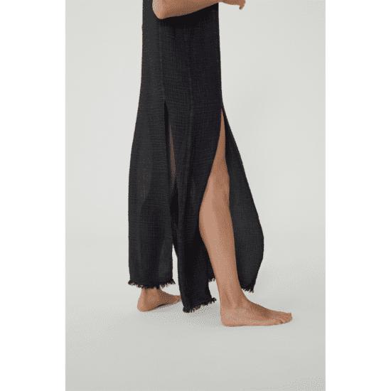 Fulmarix Black Slit Dress von Ikikiz